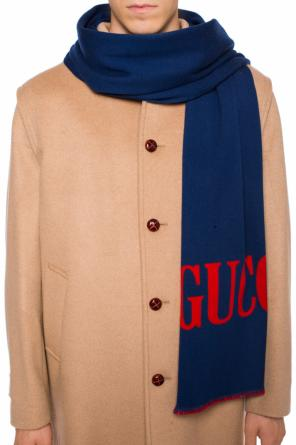Double-sided scarf with a logo od Gucci