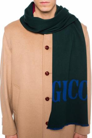 Logo-embroidered scarf od Gucci