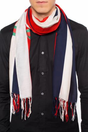 Scarf with ' sylvie web' stripes od Gucci