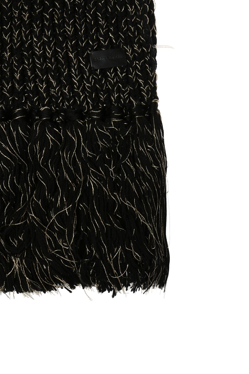 Saint Laurent Lurex yarn scarf