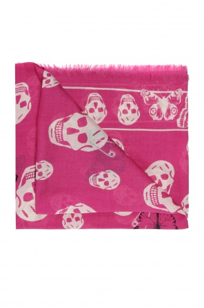 Scarf with a skull and butterfly motif od Alexander McQueen