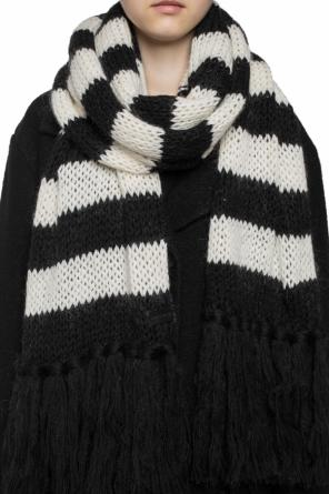 Scarf with a striped motif od Saint Laurent