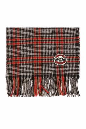 Houndstooth check scarf od Gucci