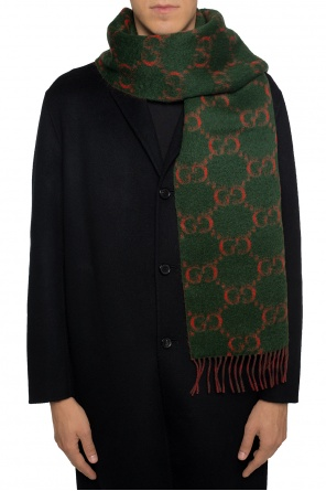 Scarf with an embroidered logo od Gucci