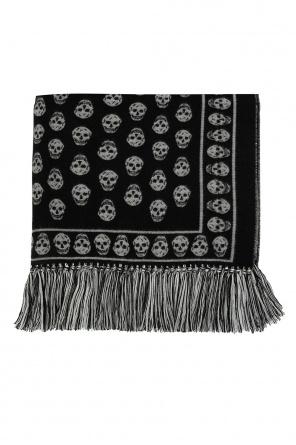 Skull motif scarf od Alexander McQueen