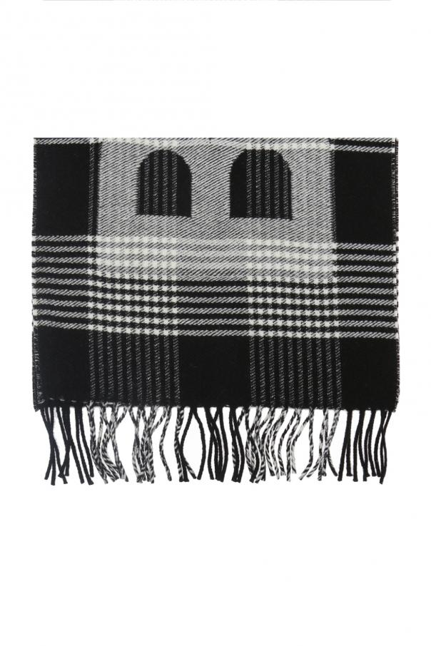Balenciaga Patterned scarf with a plaid motif