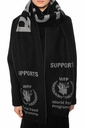 'world food programme' scarf with logo od Balenciaga