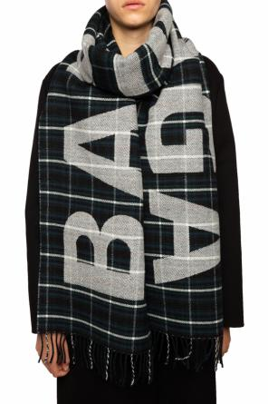 Patterned scarf with a plaid motif od Balenciaga