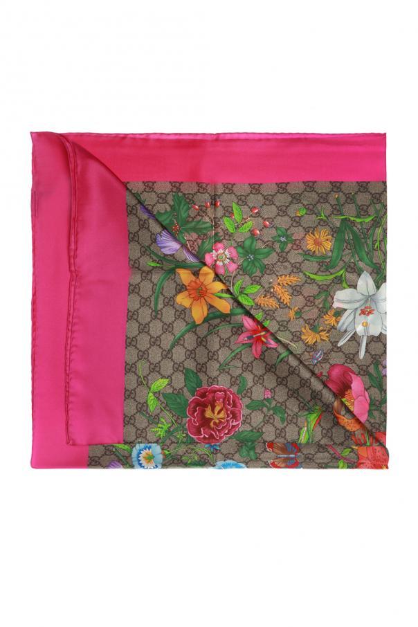 Gucci Wzorzysta chusta z motywem kwiatowym