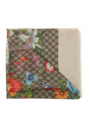Patterned scarf with 'flora' motif od Gucci
