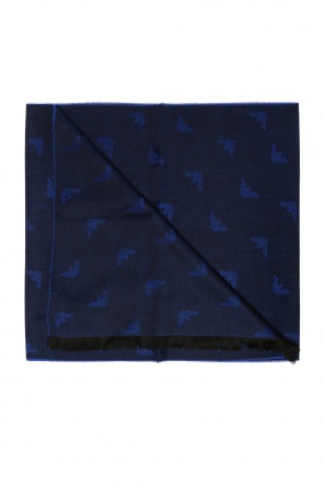 Scarf with an embroidered logo od Emporio Armani