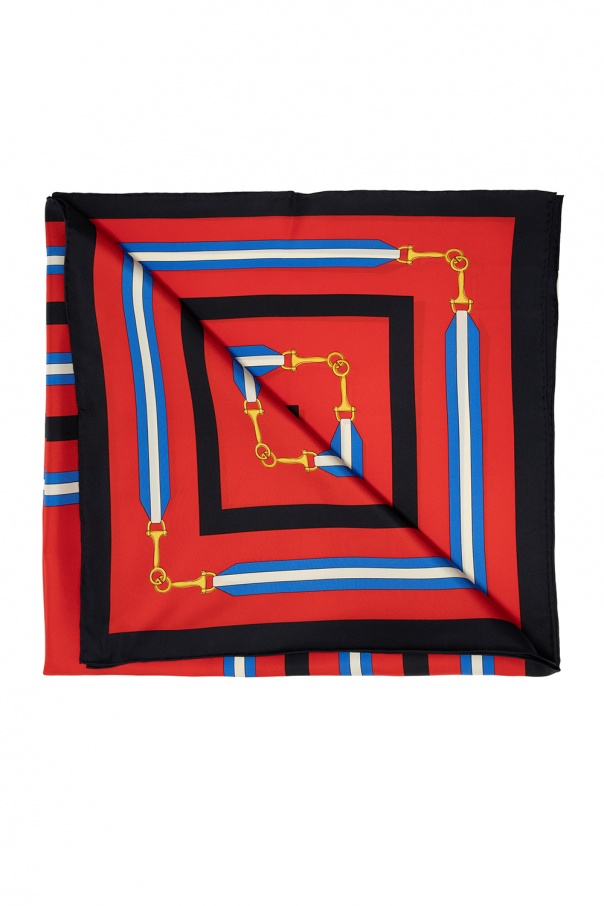 Gucci Patterned logo shawl