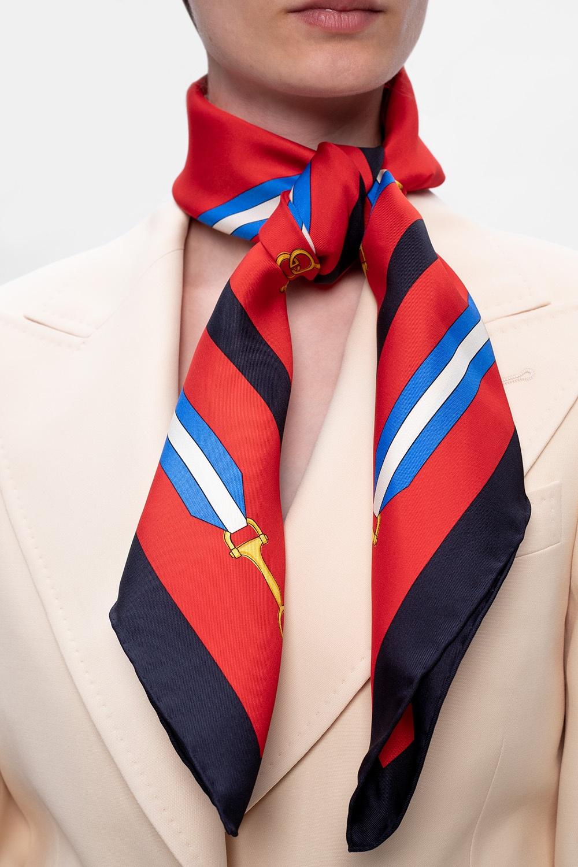Gucci Wzorzysta chusta z logo