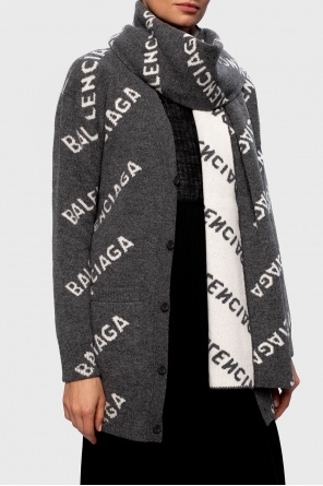 Wool scarf with logo od Balenciaga