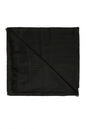 Shawl with an embroidered logo od Emporio Armani