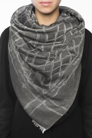 Patterned shawl with logo od Emporio Armani