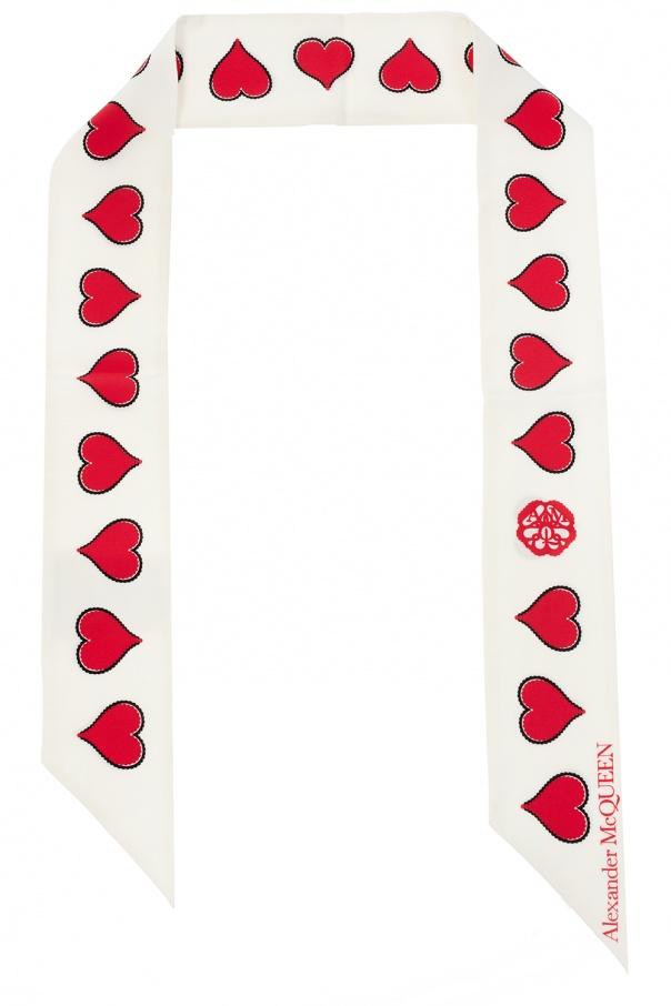 Alexander McQueen Jedwabny szal z logo