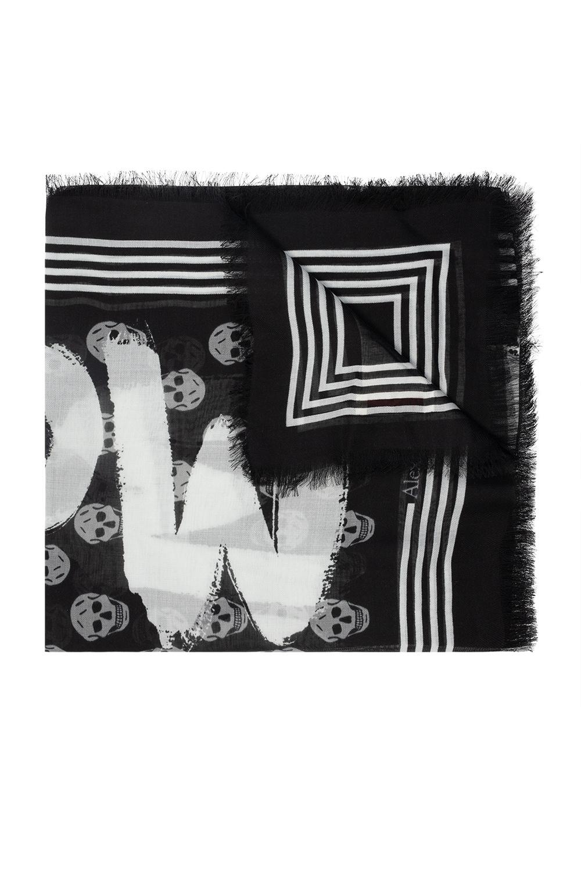 Alexander McQueen Shawl with logo