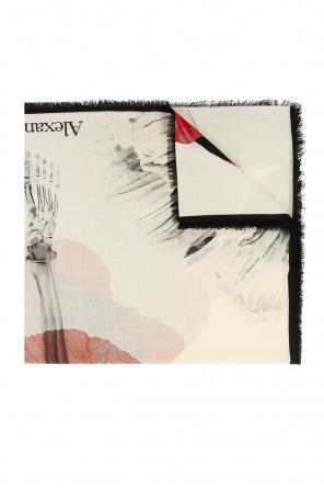 Printed wool scarf od Alexander McQueen