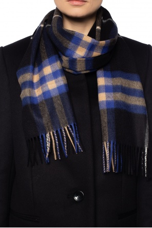 Checked cashmere scarf od Burberry