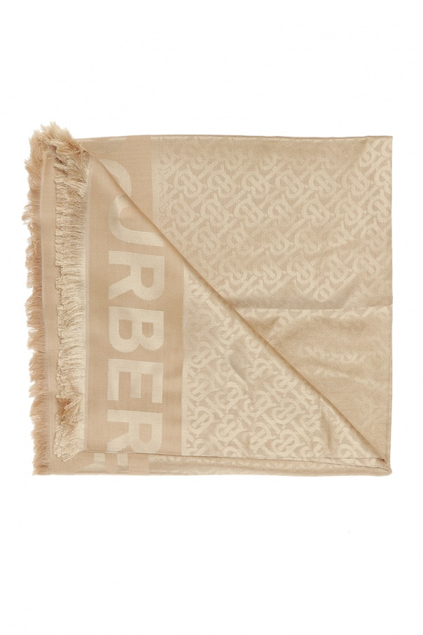Burberry Patterned shawl with logo