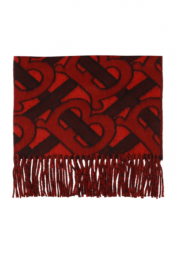 Patterned scarf with fringes od Burberry