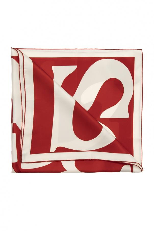 Burberry Logo silk shawl