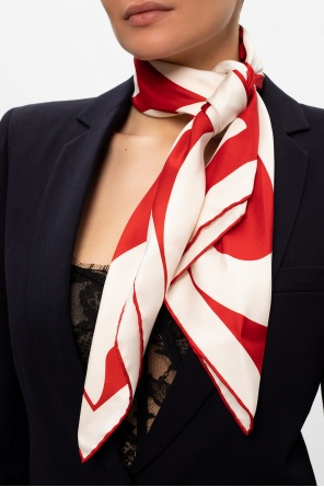Logo silk shawl od Burberry