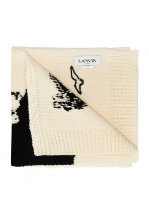Patterned wool scarf od Lanvin