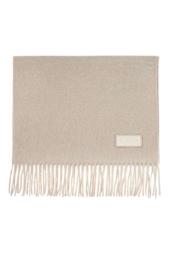 Agnona Cashmere scarf with logo