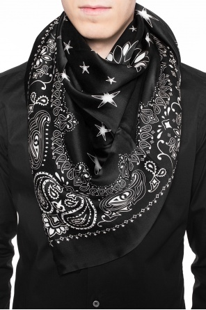 Patterned logo shawl od Amiri