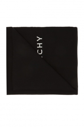 Wool scarf with a logo od Givenchy