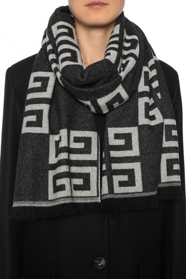 Patterned scarf with a logo od Givenchy
