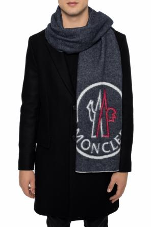 Wool scarf with a logo od Moncler
