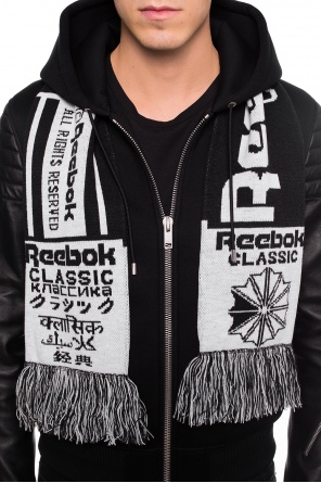 Logo-embroidered reversible scarf od Reebok