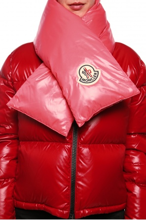 Down scarf with logo od Moncler