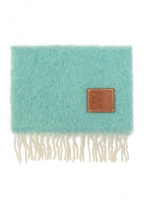 Wełniany szal z logo od Loewe
