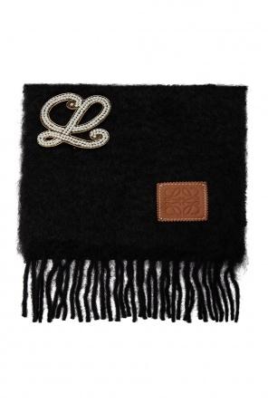Mohair scarf with logo od Loewe