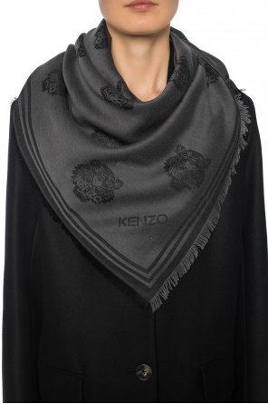 Patterned shawl with tiger head motif od Kenzo