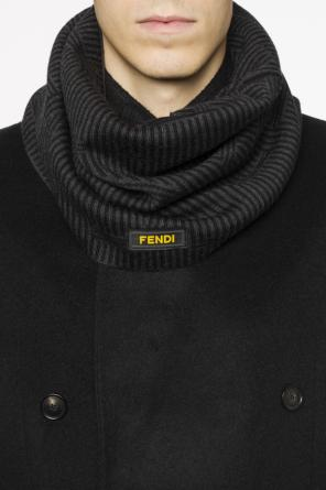 Striped tube scarf od Fendi