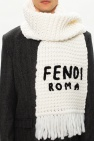Fendi Knitted scarf with logo