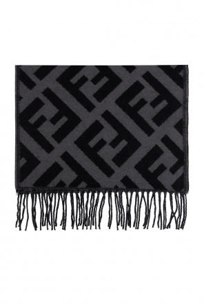 Cashmere scarf with logo od Fendi