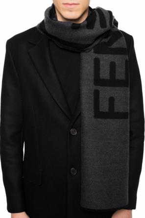 Scarf with an embroidered logo od Fendi