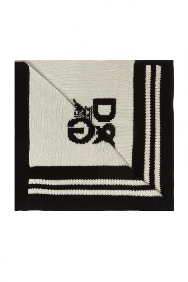 Dolce & Gabbana Kaszmirowy szal z logo
