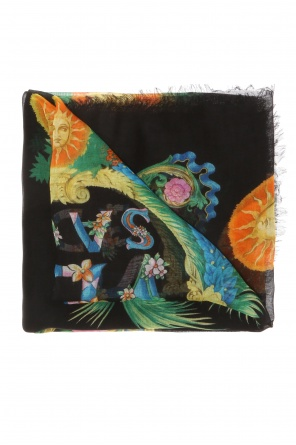 'beverly palm' printed shawl od Versace