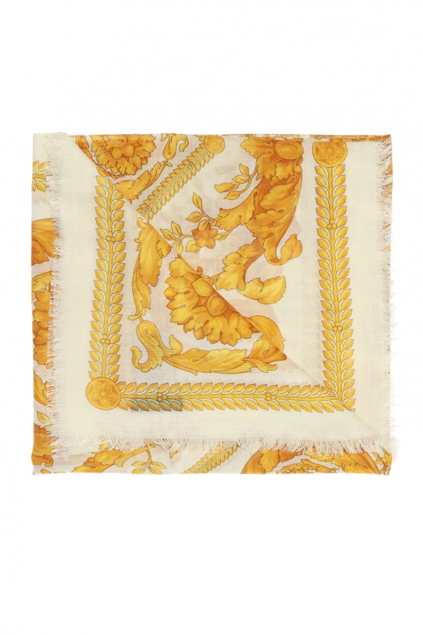 Versace Embroidered scarf