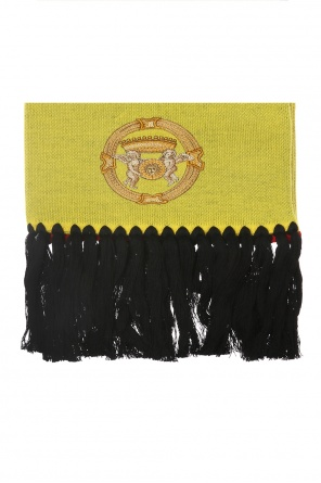 Logo-embroidered shawl od Versace