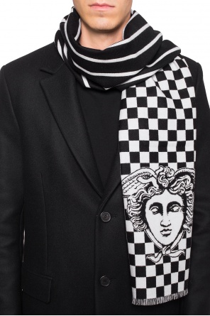 Logo-embroidered scarf od Versace