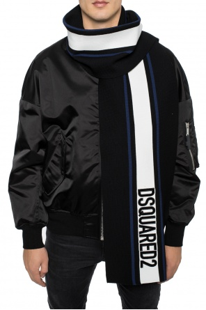 Scarf with embroidered logo od Dsquared2