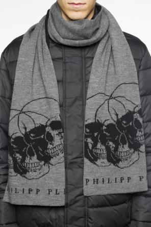 Scarf with embroidered pattern od Philipp Plein
